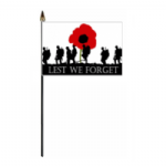 Lest We Forget Army Hand Flag - Small
